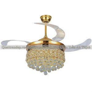 Quạt trần cụp xòe An Thịnh 93HT-896 vàng